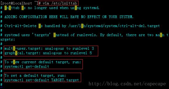 CentOS7 设置运行级别-完美源码